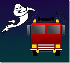 ghost and firetruck